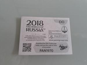 estampa 00 del album panini mundial rusia 2018