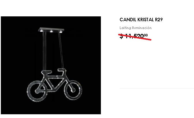 lampara de bicicleta colgando
