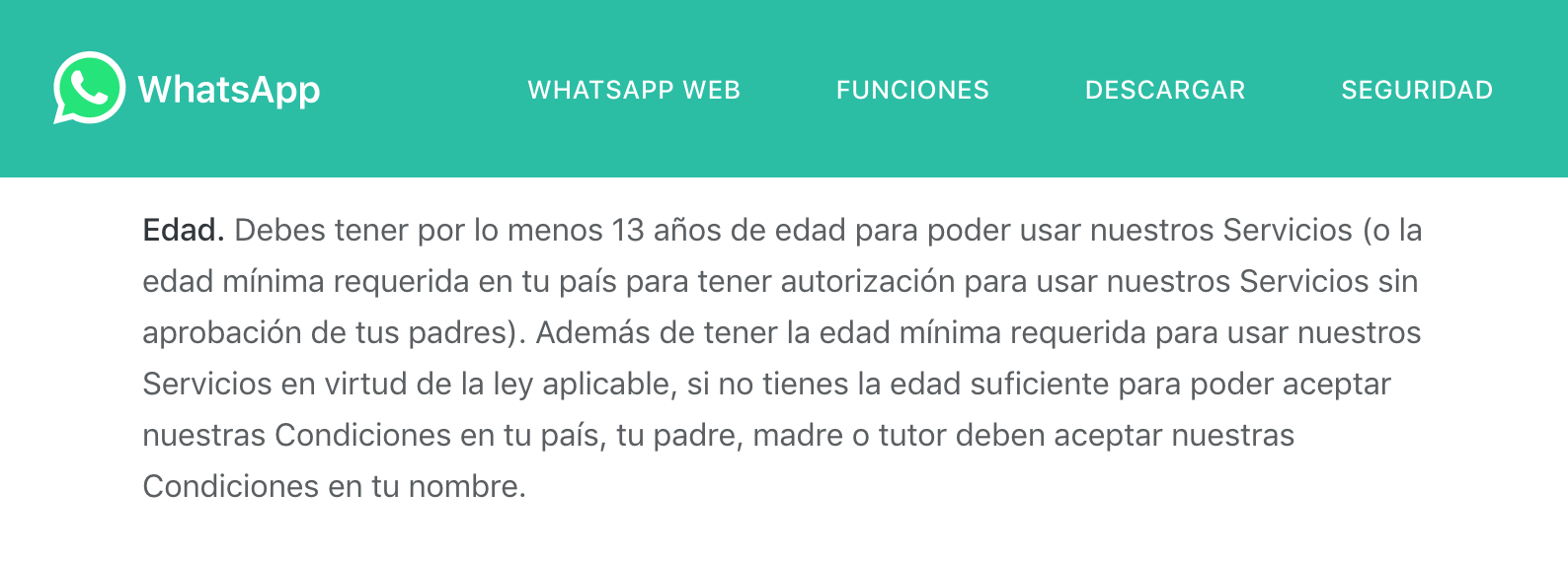 WhatsApp bloqueará a los usuarios que sean menores de edad
