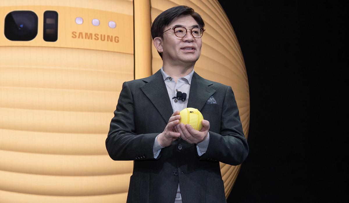 Ballie un robot inteligente en forma de pelota